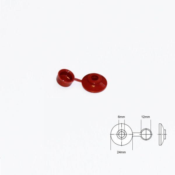 Abdeckkappen für Eternitschrauben Rot