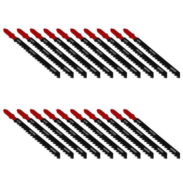 Stichsägeblätter 20 Stück T-Schaft 100mm für Holz Kunststoff