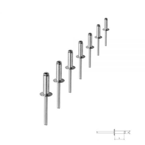 Blindnieten Flachkopf 4,0 x 24 mm