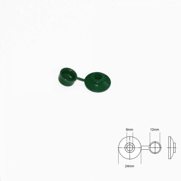 Abdeckkappen für Eternitschrauben Grün