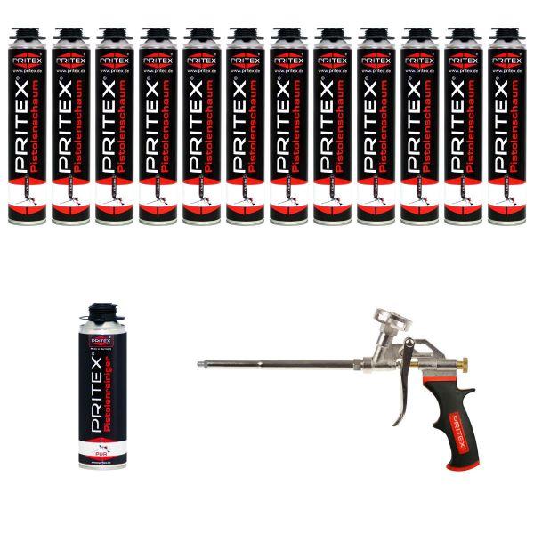 XL Set Pistolenschaum 12 x 750ml + 1 Reiniger und 1 Pistole Bauschaum