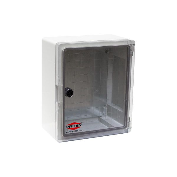 Kunststoff Schaltschrank 180 x 240 x 130 mm IP65 mit Sichttür