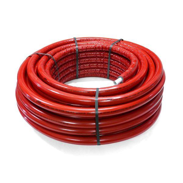 Alu Verbundrohr 50 m rot 20 x 2 mit 10 mm Isolierung DVGW