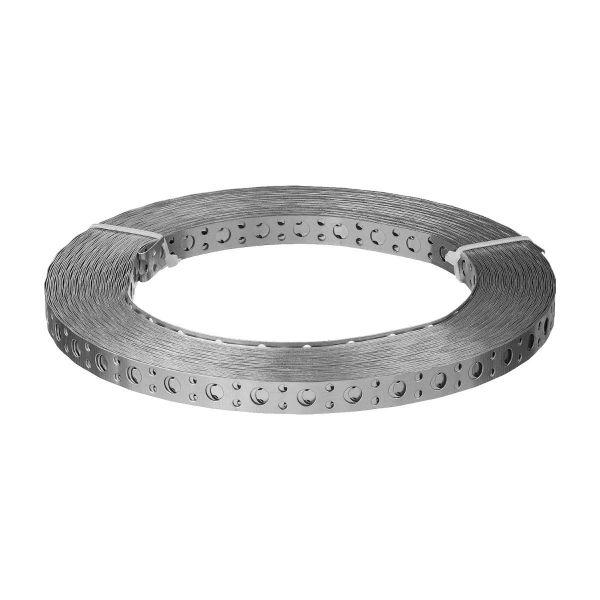 Lochband Stahl verzinkt 25 x 0,5 mm Montageband 10 m Rolle