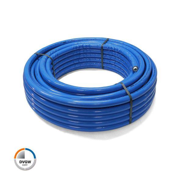 Alu Verbundrohr 50 m blau 20 x 2 mit 6 mm Isolierung DVGW