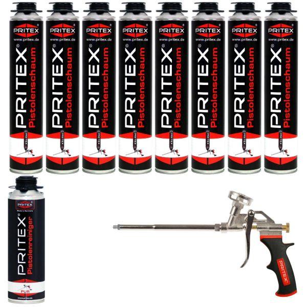 XL Set Pistolenschaum 8 x 750ml + 1 Reiniger und 1 Pistole Bauschaum