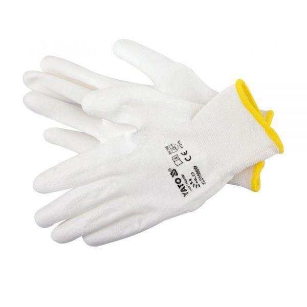 Handschuhe weiß 1 Paar Nylon Gr 10 Arbeitshandschuhe