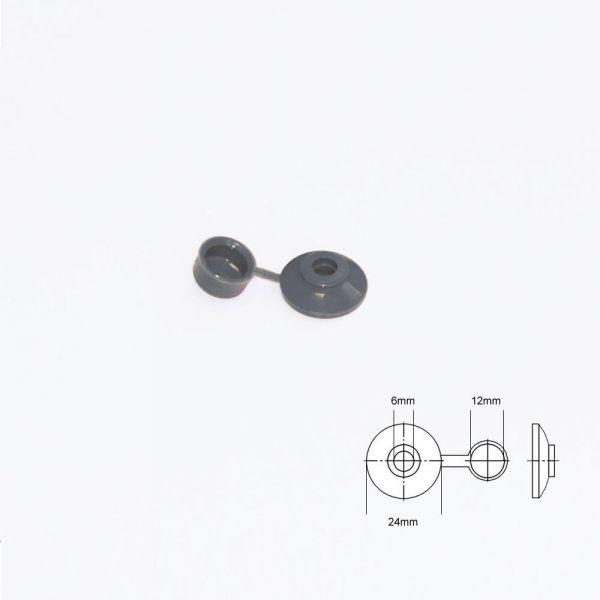 Abdeckkappen für Eternitschrauben Grau