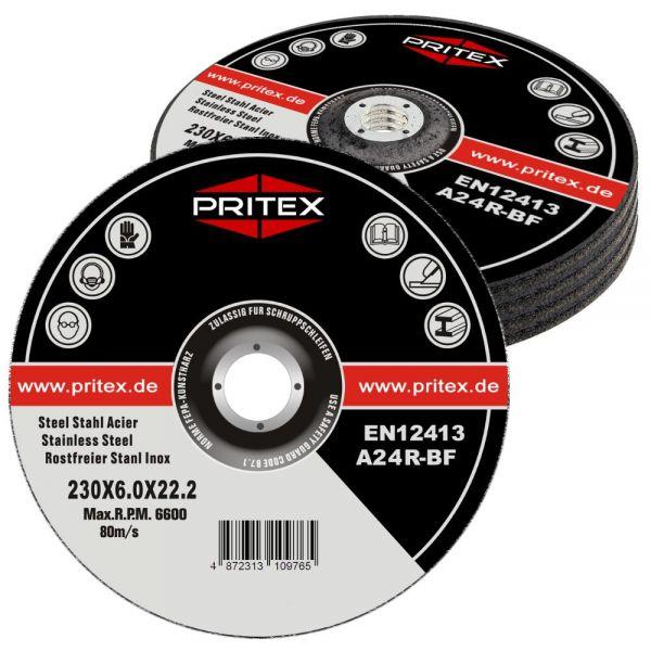 Schruppscheiben Inox 230 x 6.0 mm 25 Stück für Edelstahl Metall