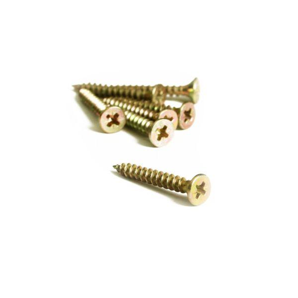 Spanplattenschrauben Kreuz 3,5 x 35 mm - 500 Stück Holzschrauben - Senkkopf