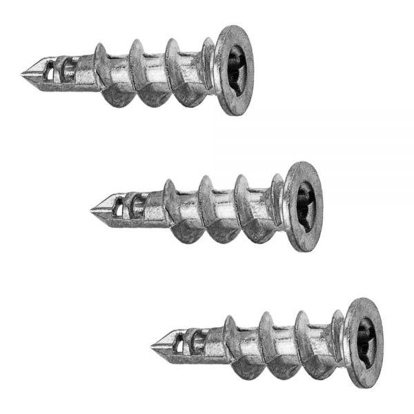 Gipskartondübel Easy 100 Stück 14 x 40 mm Hohlraumdübel Metall