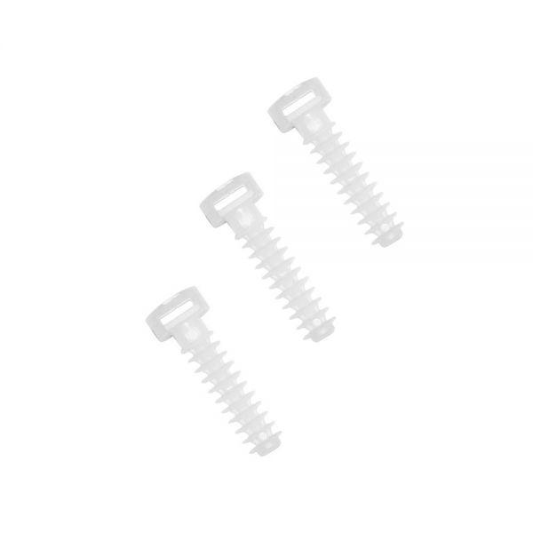 Dübel für Kabelbinder 8 x 40 mm Weiß 100 Stück Montagedübel