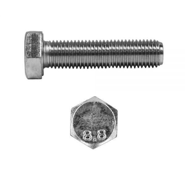 Sechskantschrauben M12 x 55 mm 100 Stück 8.8 verzinkt DIN 933