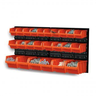 Werkzeugwand 24tlg Wandregal Lagerregal mit Stapelboxen Werkstattwand Werkstatt Box