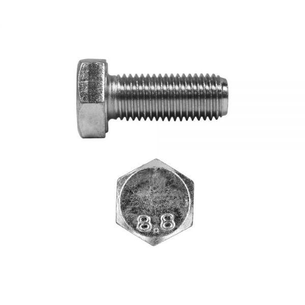 Sechskantschrauben M12 x 16 mm 100 Stück 8.8 verzinkt DIN 933