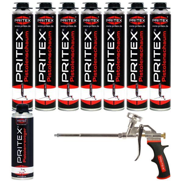 XL Set Pistolenschaum 7 x 750ml + 1 Reiniger und 1 Pistole Bauschaum