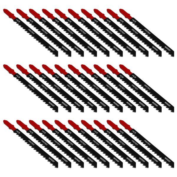 Stichsägeblätter 30 Stück T-Schaft 100mm für Holz Kunststoff